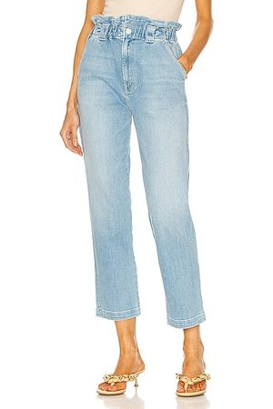 Mother The Yoyo Ruffle Greaser Ankle in Blue