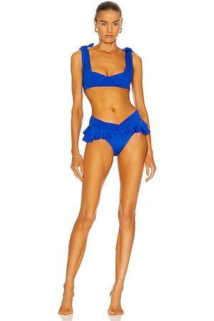 RAISA & VANESSA Draped Bikini Set in