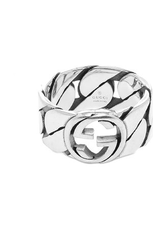 Gucci Men Rings - Interlocking G Gourmette Ring 10mm