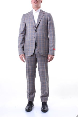 ISAIA Single-breasted suits Men and camel