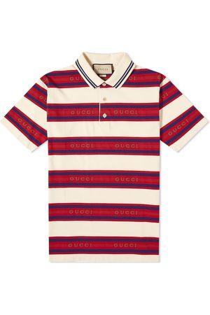 Gucci Men Polo Shirts - Stripe Logo Polo