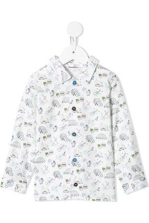 Familiar Boys Shirts - Doodle print shirt