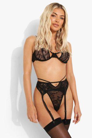 Boohoo Womens Lace Suspender Belt - - S