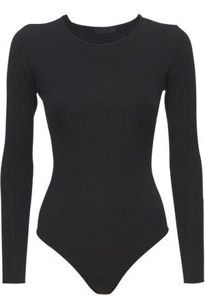 WARDROBE.NYC Viscose Blend Knit Bodysuit