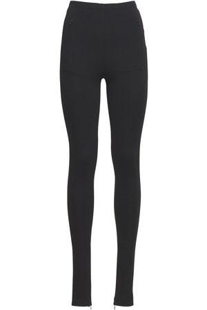 WARDROBE.NYC Women Leggings - Technical Stretch Jersey Zip Leggings
