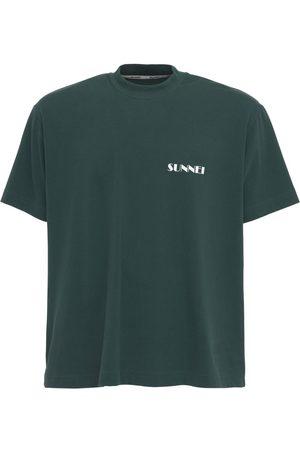 SUNNEI Logo Print Cotton Crewneck T-shirt