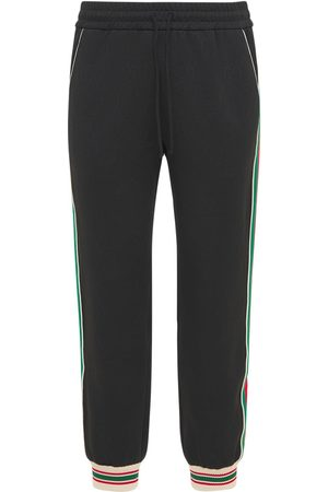 Gucci Men Pants - Gg Jersey Jacquard Jogging Pants