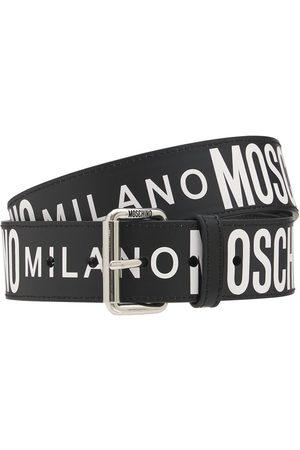 Moschino 3.5cm Logo Leather Belt