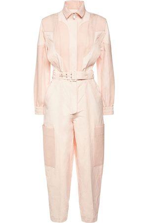 STELLA MCCARTNEY Organic Cotton Blend Belted Jumpsuit