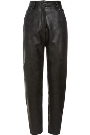 STELLA MCCARTNEY Fake Leather Straight Leg Pants