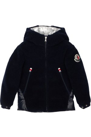 Moncler Girls Jackets - Gizem Hooded Sherpa & Nylon Down Jacket