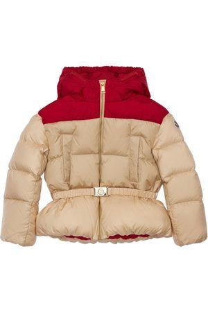 Moncler Girls Jackets - Acelia Hooded Nylon Down Jacket