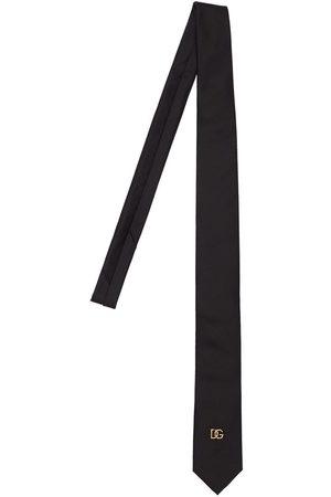 Dolce & Gabbana 6cm Dg Metal Logo Silk Tie