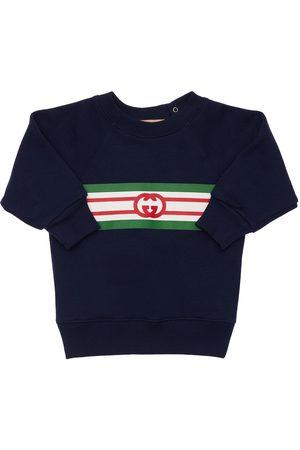 Gucci Girls Sweatshirts - Logo Cotton Sweatshirt