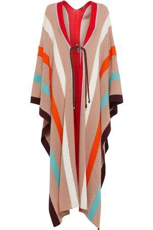 MISSONI Intarsia Wool Knit Oversized Poncho