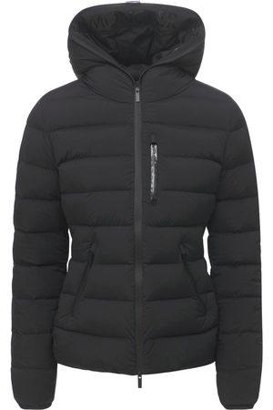 MONCLER Women Jackets - Herbe Nylon Stretch Down Jacket