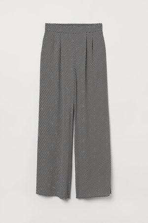 H&M Women Wide Leg - Wide-leg Pull-on Pants