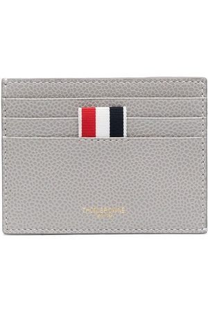 Thom Browne Men Wallets - Wallet with signature stripe detail - Grey