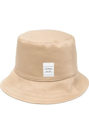 Thom Browne Men Hats - Logo-patch bucket hat - Neutrals