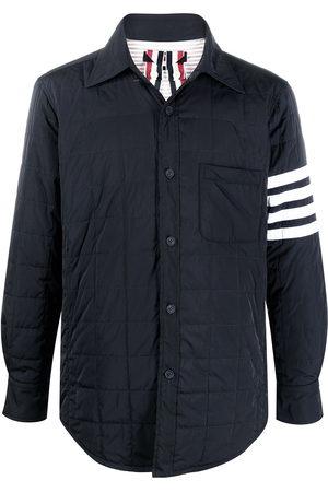 Thom Browne Men Puffer Jackets - 4-Bar stripe padded shirt jacket