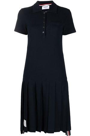 Thom Browne Tri-stripe trim polo shirt dress