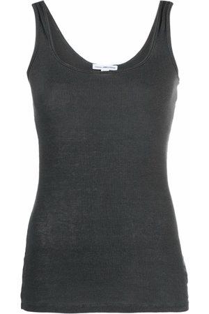 James Perse Women Tank Tops - U-neck sleeveless tank top - Grey