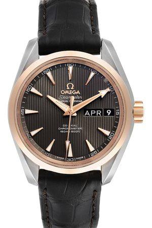 Omega 18K Rose Gold And Stainless Steel Aqua Terra Annual Calendar 231.23.39.22.06.001 Men's Wristwatch 38.5 MM