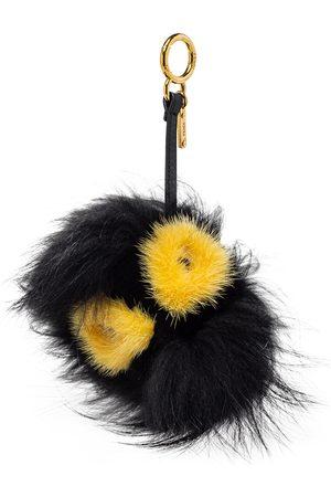 Fendi /Yellow Fox Fur Zesty Bug Bag Charm