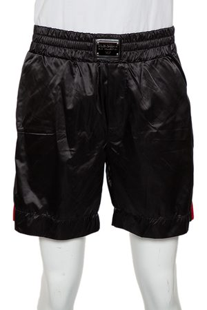 Dolce & Gabbana Synthetic Side Strip Detail Shorts XL