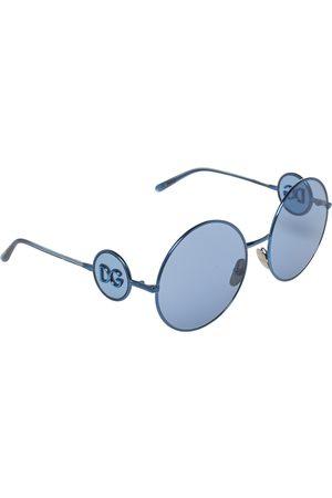 Dolce & Gabbana Metal DG Logo Detail Round Sunglasses