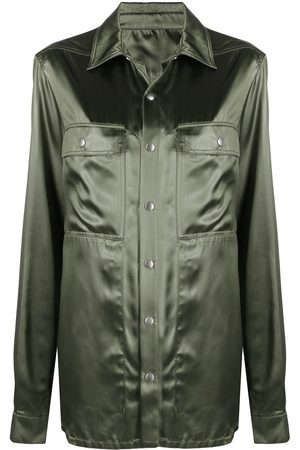 Rick Owens Satin classic-collar shirt jacket