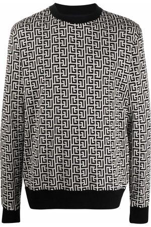 Balmain Monogram-motif sweatshirt