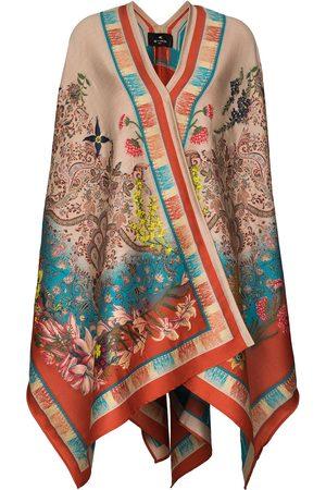 Etro Women Ponchos & Capes - Paisley-jacquard cape - Neutrals