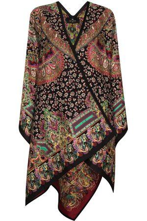 Etro Women Ponchos & Capes - Paisley-jacquard cape