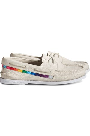 Sperry Top-Sider Shoes - Sperry Unisex Authentic Original Pride Boat Shoe WhiteMulti, Size 9M