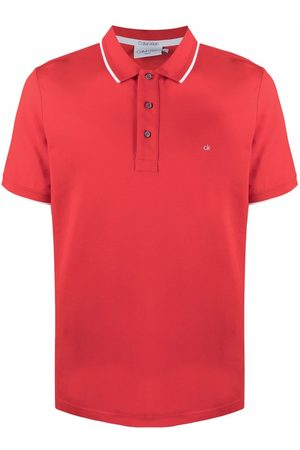 Calvin Klein Men Polo Shirts - Embroidered-logo polo shirt