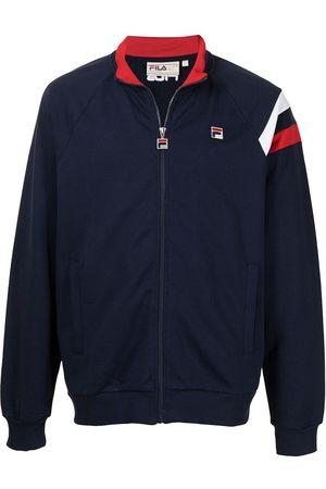 Fila Men Bomber Jackets - Logo-patch bomber track jacket