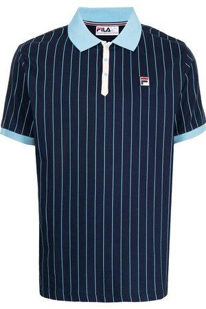 Fila Pinstripe logo-patch polo shirt