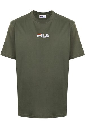 Fila Men T-shirts - Logo-embroidered cotton T-shirt