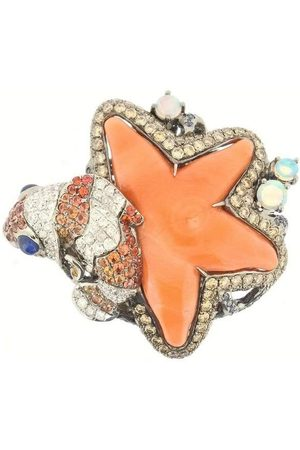 WENDY YUE Coral Starfish Ring