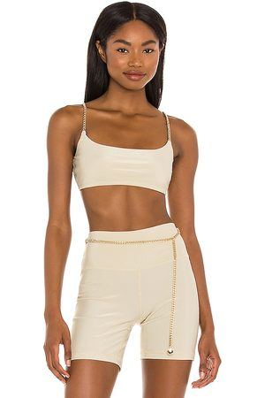 WeWoreWhat Chain Cami Bra in Tan.