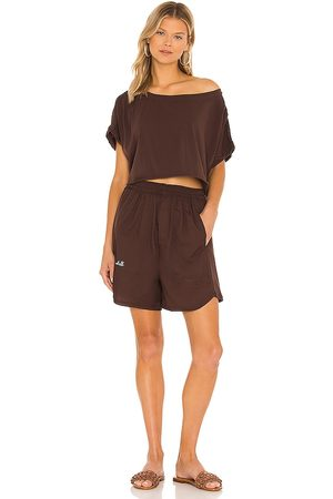Free People Perfect Pima Bower Set in Chocolate.