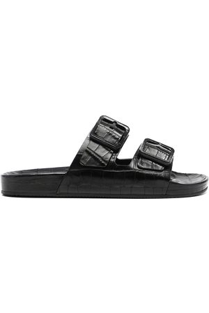 Balenciaga Men Sandals - Crocodile-effect Mallorca sandals