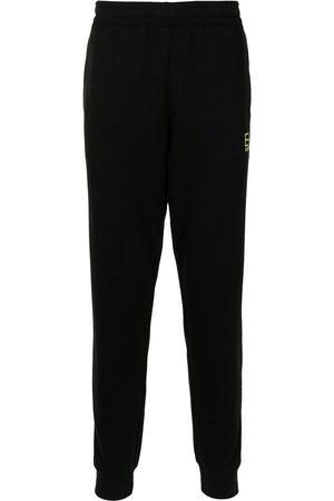 EA7 Men Sweatpants - Logo-print cotton track trousers