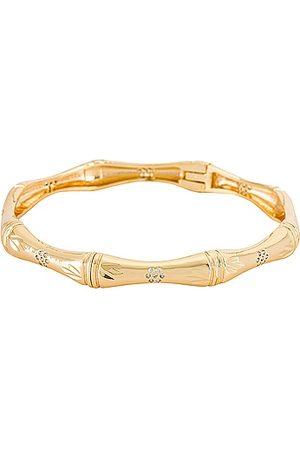 Natalie B Jewelry Bibi Bamboo Bangle in Metallic .