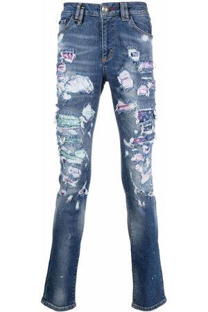 Philipp Plein Men Slim - Distressed slim-fit jeans
