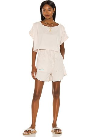 Free People Perfect Pima Boxer Set in Neutral.
