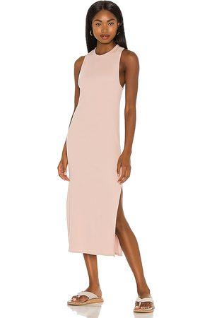 RAG&BONE The Essential Rib Muscle Dress in Blush.