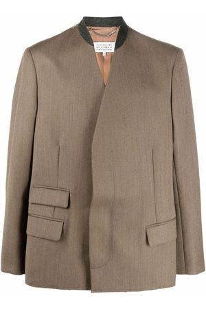 Maison Margiela Stitch-logo blazer - Neutrals