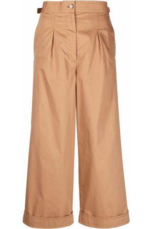 Acne Studios Women Wide Leg Pants - Wide-leg cropped trousers
